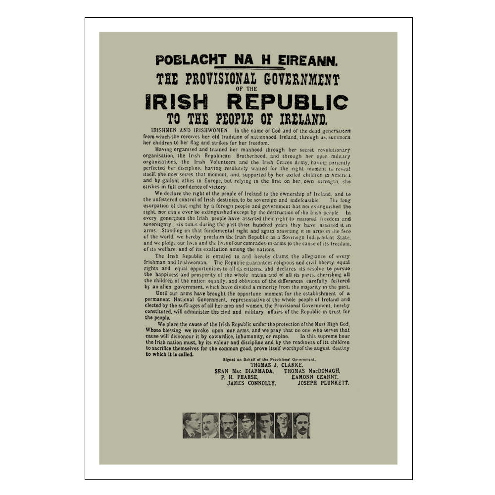 Fotofix 1916 easter rising posters 1916 proclamation with signatories a3 poster negle Images
